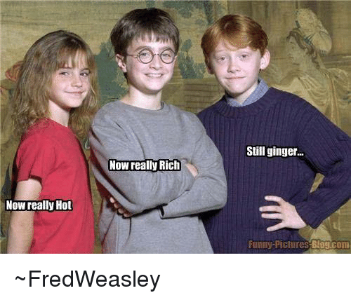 Ginger Funny: Now really Hot  Now Meally Rich  Still ginger...  Funny Pictures  BIOS com ~FredWeasley