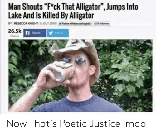 Justice: Now That's Poetic Justice lmao