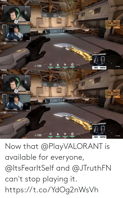 For Everyone: Now that @PlayVALORANT is available for everyone, @ItsFearItSelf and @JTruthFN can't stop playing it. https://t.co/YdOg2nWsVh