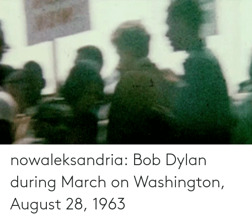 august: nowaleksandria:   Bob Dylan during March on Washington, August 28, 1963