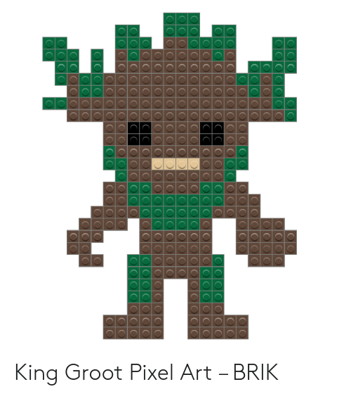 O Oo O C O0 Oooo King Groot Pixel Art Brik Art Meme On