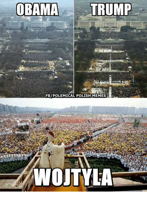 Polish Meme: OBAMA TRUMP  FB/POLEMICAL POLISH MEMES  WOJTYLA