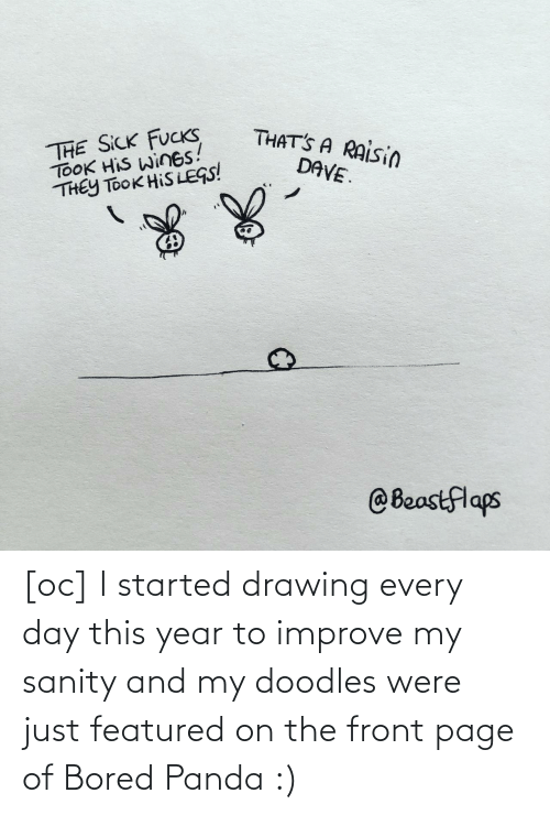 Improve: [oc] I started drawing every day this year to improve my sanity and my doodles were just featured on the front page of Bored Panda :)