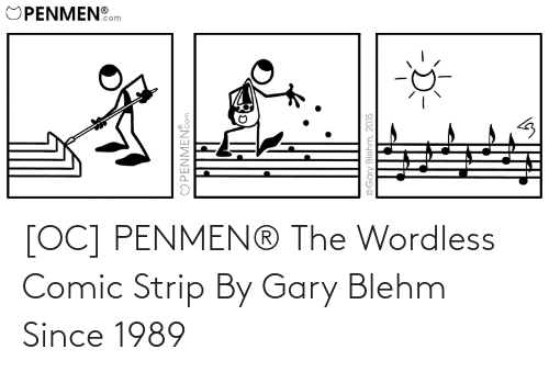 strip: [OC] PENMEN® The Wordless Comic Strip By Gary Blehm Since 1989