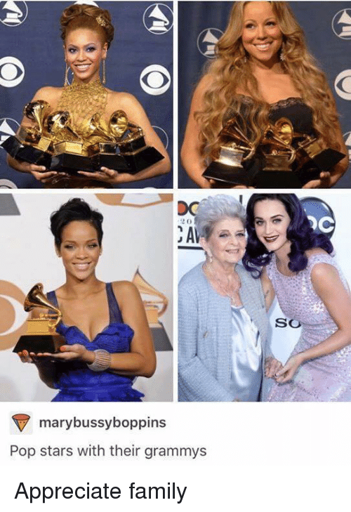 Family, Grammys, and Pop: OC  SO  marybussyboppins  Pop stars with their grammys Appreciate family