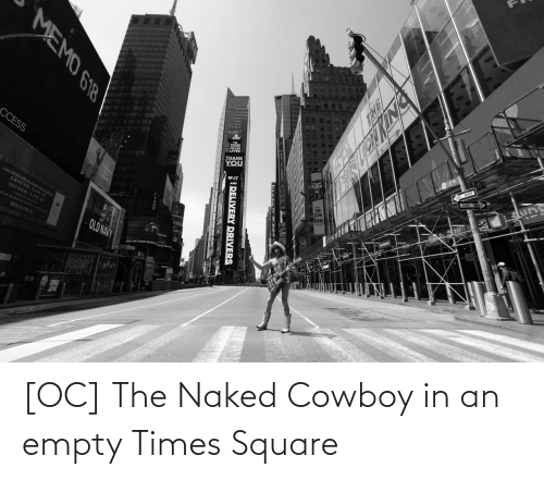 Naked: [OC] The Naked Cowboy in an empty Times Square