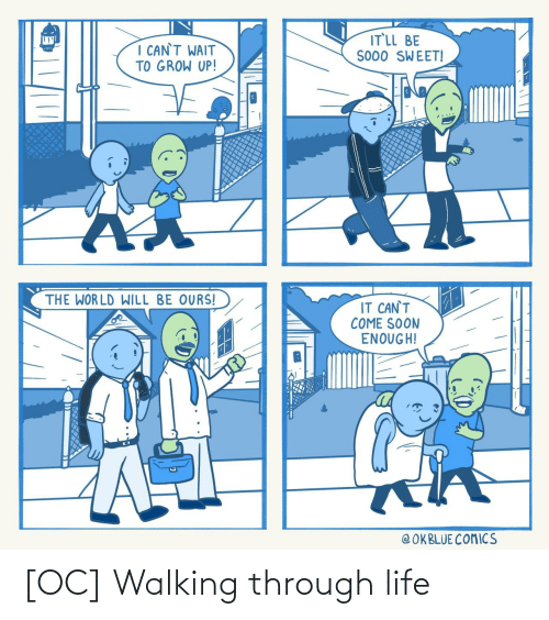 walking: [OC] Walking through life