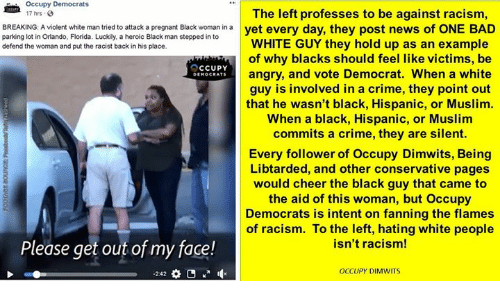 Occupy Democrats 7 Hrs The Left Professes To Be Against Racism Breaking -6910