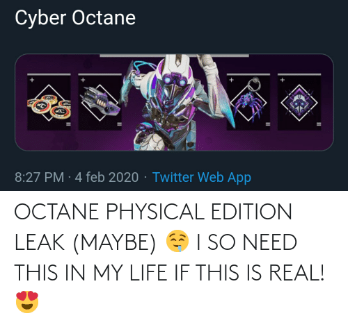 Octane: OCTANE PHYSICAL EDITION LEAK (MAYBE) 🤤 I SO NEED THIS IN MY LIFE IF THIS IS REAL! 😍