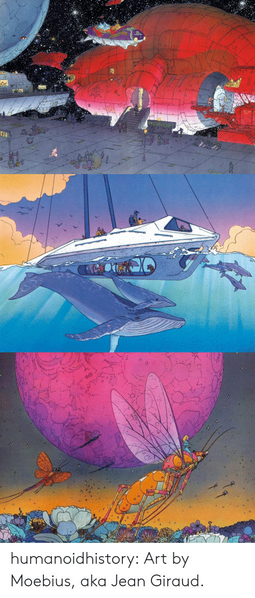 Tumblr, Blog, and Http: od  no  DEPARTOZK 37HS  0 humanoidhistory:  Art by Moebius, aka Jean Giraud.