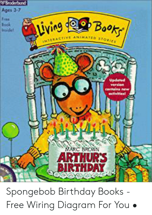 Marc Brown: oderbund  Ages 3-7  Free  Book  Insidet  uvine Book  NTERACTIVe ANIMATED STORIES  Updated  version  contains new  activitiest  MARC BROWN  ARTHUR'S  BIRTHDAY Spongebob Birthday Books - Free Wiring Diagram For You •