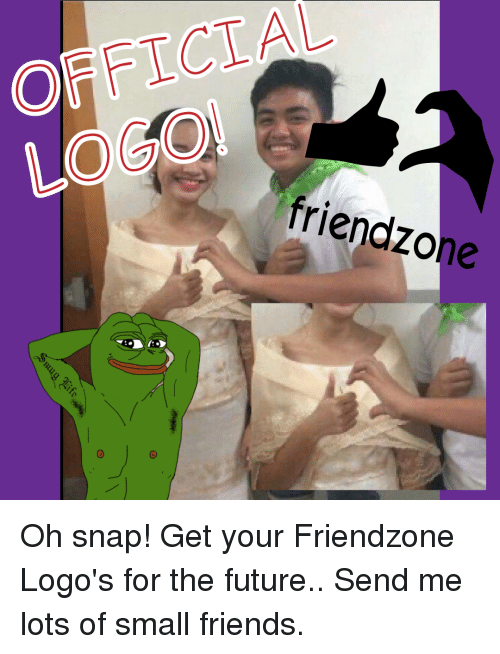 Friendzone Logo: OFFICIAL  friend zone Oh snap! Get your Friendzone Logo's for the future.. Send me lots of small friends.