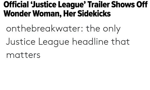 Target, Tumblr, and Blog: Official  'Justice  League'  Trailer  Shows  Off  Wonder Woman, Her Sidekicks onthebreakwater: the only Justice League headline that matters