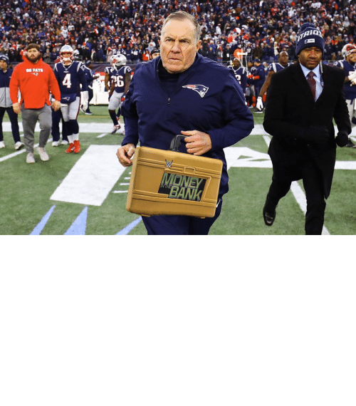 bowl: OH MY! Bill Belichick is cashing in his MITB Briefcase! The Super Bowl is now a triple threat! https://t.co/4UZRCwWTjL
