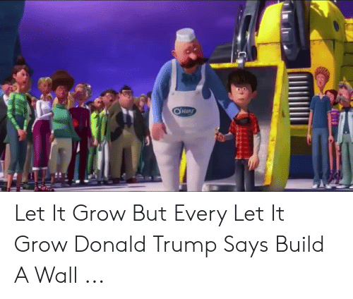 OHARE Let It Grow but Every Let It Grow Donald Trump Says