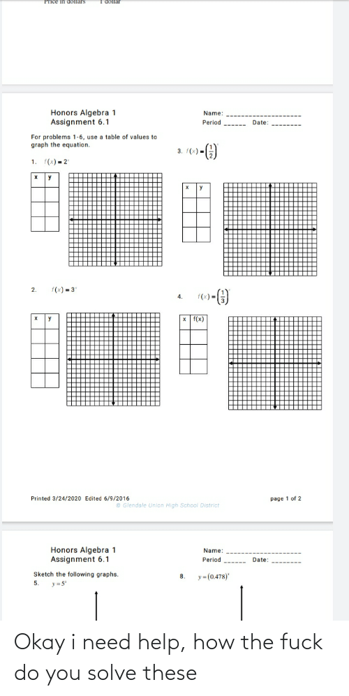 How The Fuck: Okay i need help, how the fuck do you solve these