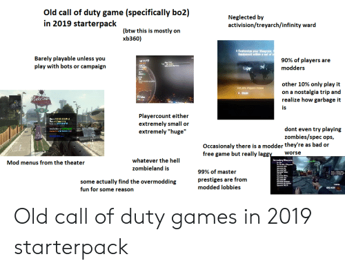 Old Call of Duty Game Specifically Bo2 in 2019 Starterpack