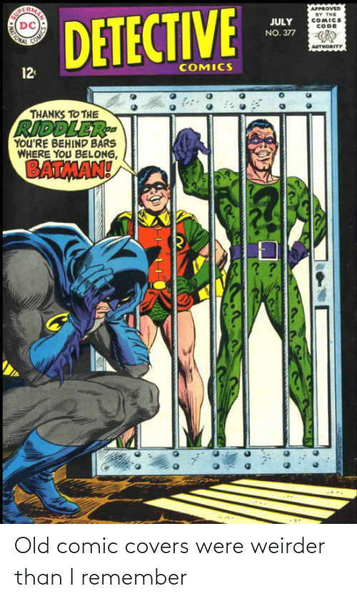 comic: Old comic covers were weirder than I remember