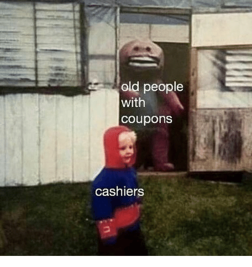 Old People, Dank Memes, and Old: old people  with  coupons  cashiers