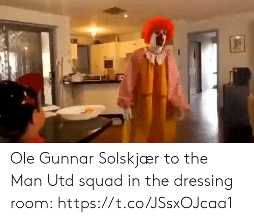Squad: Ole Gunnar Solskjær to the Man Utd squad in the dressing room: https://t.co/JSsxOJcaa1
