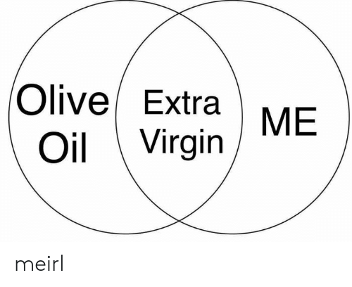Virgin, MeIRL, and Extra: Olive/ Extra  Oi Virgin ME meirl