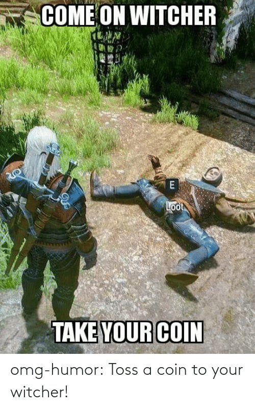 witcher: omg-humor:  Toss a coin to your witcher!