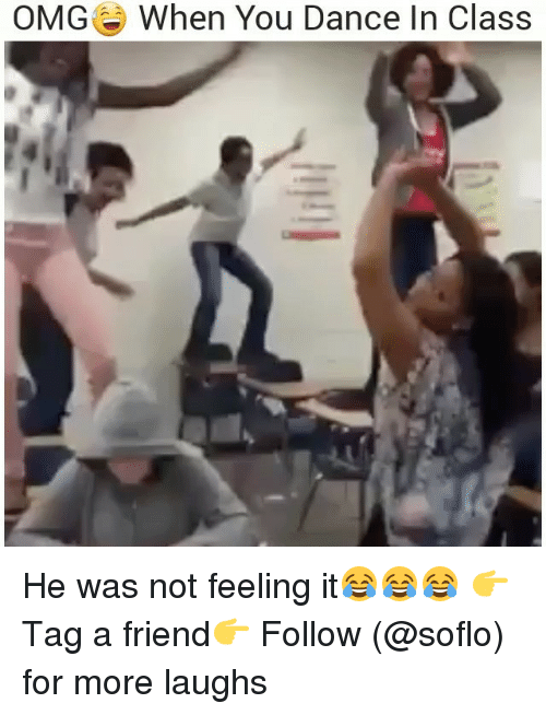 Soflo: OMG  When You Dance In Class He was not feeling it😂😂😂 👉Tag a friend👉 Follow (@soflo) for more laughs
