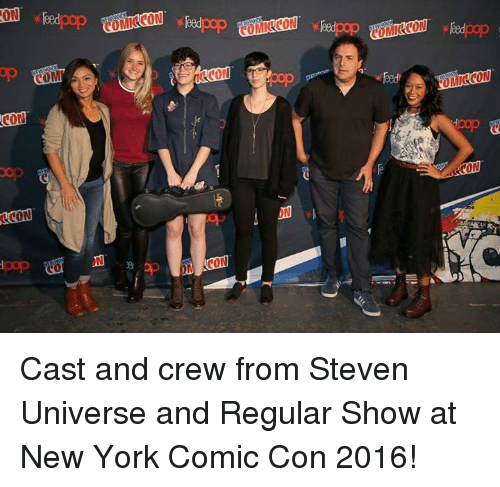 Regular Show: ON pop  CON  OCON  CON teed pop Cast and crew from Steven Universe and Regular Show at New York Comic Con 2016!
