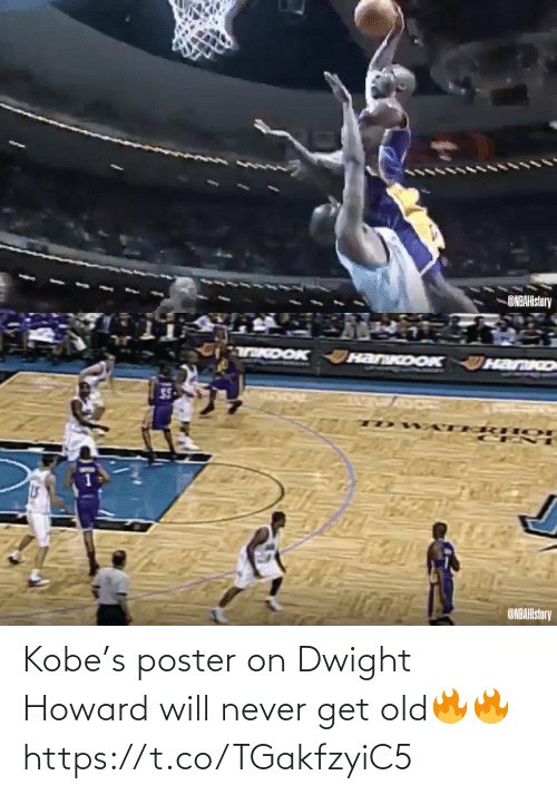 Never: ONBAHistory   TKDOK HanKoOK  HanKo  ONBAHistory Kobe's poster on Dwight Howard will never get old🔥🔥 https://t.co/TGakfzyiC5