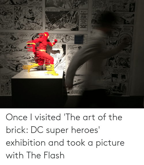 Visited: Once I visited 'The art of the brick: DC super heroes' exhibition and took a picture with The Flash