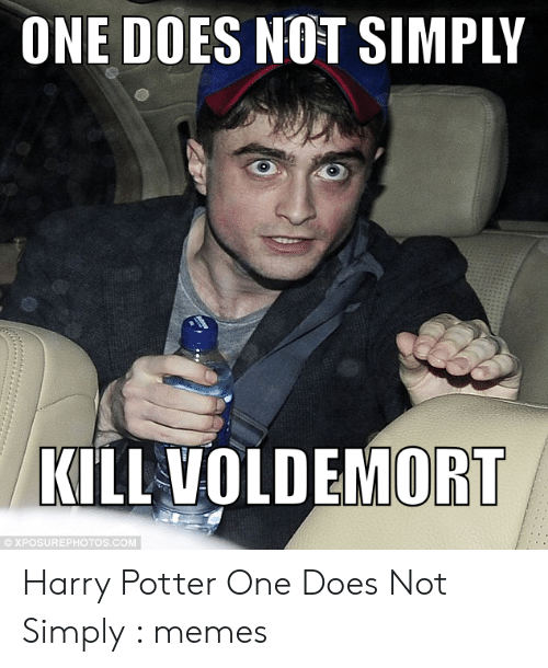 ONE DOES NOT SIMPLY KILL VOLDEMORT © XPOSUREPHOTOSCOM Harry