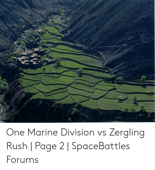 One Marine Division vs Zergling Rush | Page 2 | SpaceBattles Forums