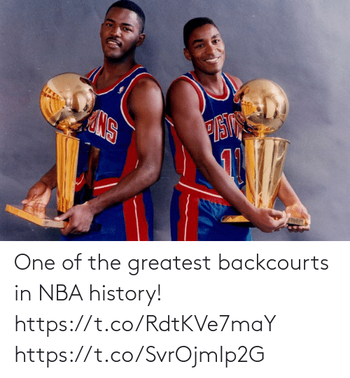 greatest: One of the greatest backcourts in NBA history! https://t.co/RdtKVe7maY https://t.co/SvrOjmIp2G