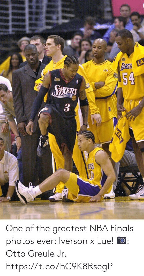 greatest: One of the greatest NBA Finals photos ever: Iverson x Lue!   📷: Otto Greule Jr. https://t.co/hC9K8RsegP
