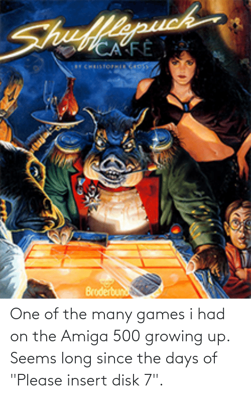"""amiga: One of the many games i had on the Amiga 500 growing up. Seems long since the days of """"Please insert disk 7""""."""