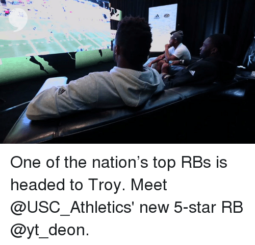 usc athletics: One of the nation's top RBs is headed to Troy. Meet @USC_Athletics' new 5-star RB @yt_deon.