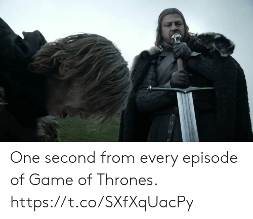 of game of thrones: One second from every episode of Game of Thrones. https://t.co/SXfXqUacPy