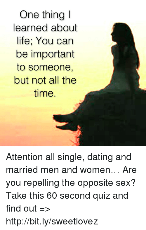 single but dating a married man