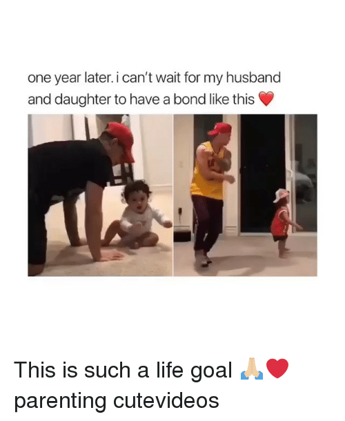 Life Goal: one year later. i can't wait for my husband  and daughter to have a bond like this This is such a life goal 🙏🏼❤️ parenting cutevideos
