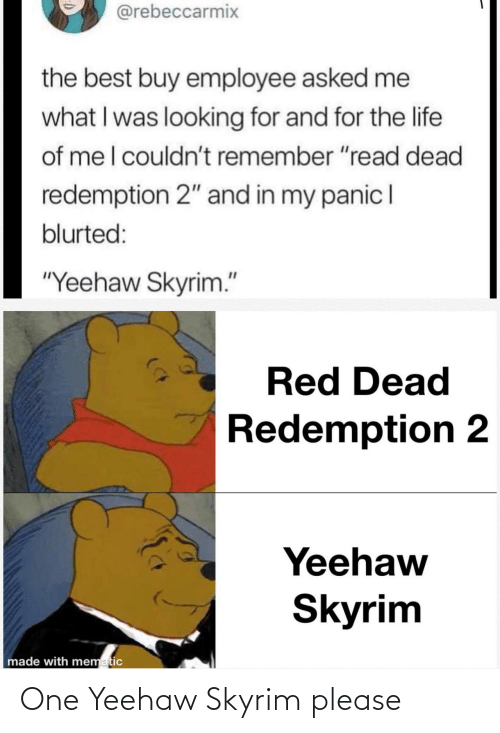 Skyrim: One Yeehaw Skyrim please