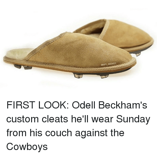 d3ac10245b86 Couch, Cowboy, and Hood: ONFL MEMES FIRST LOOK: Odell Beckham's custom  cleats