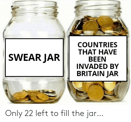 left: Only 22 left to fill the jar…