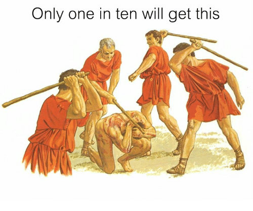 Rough Roman: Only one in ten will get this
