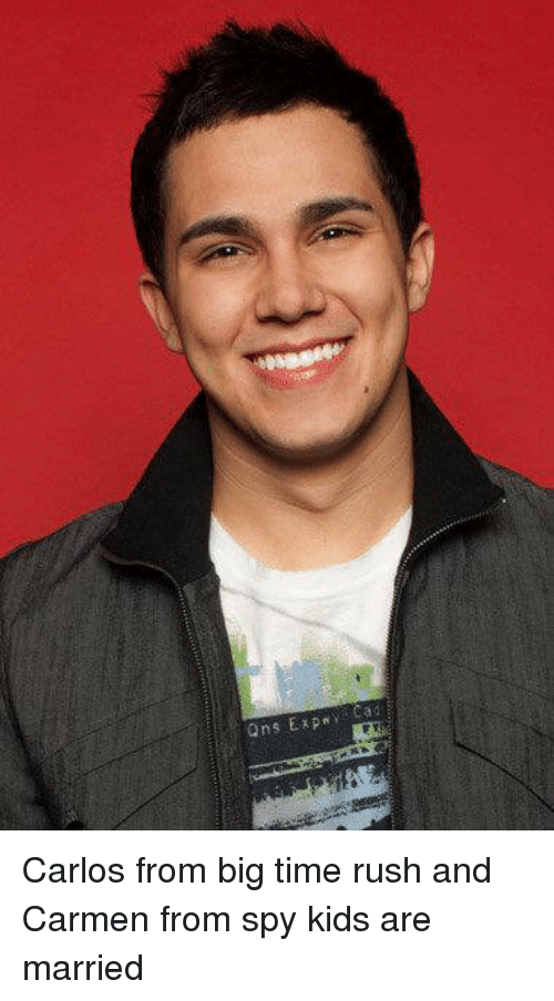 Big Time Rush: ons Expny Carlos from big time rush and Carmen from spy kids are married