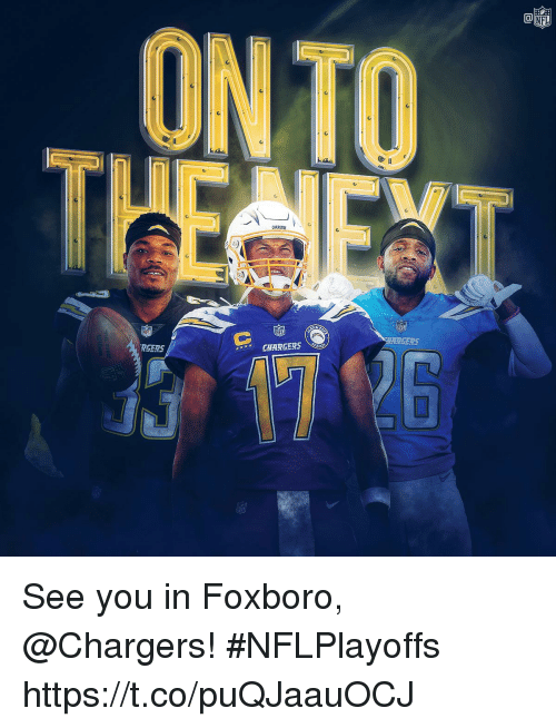 Memes, Chargers, and 🤖: ONTO  BASERS  ARGERS  RGERS  CHARGERS See you in Foxboro, @Chargers! #NFLPlayoffs https://t.co/puQJaauOCJ