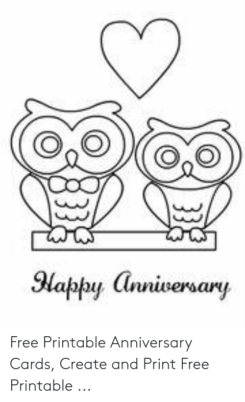 graphic about Printable Anniversary Cards called Oo La Absolutely free Printable Anniversary Playing cards Generate and Print Cost-free