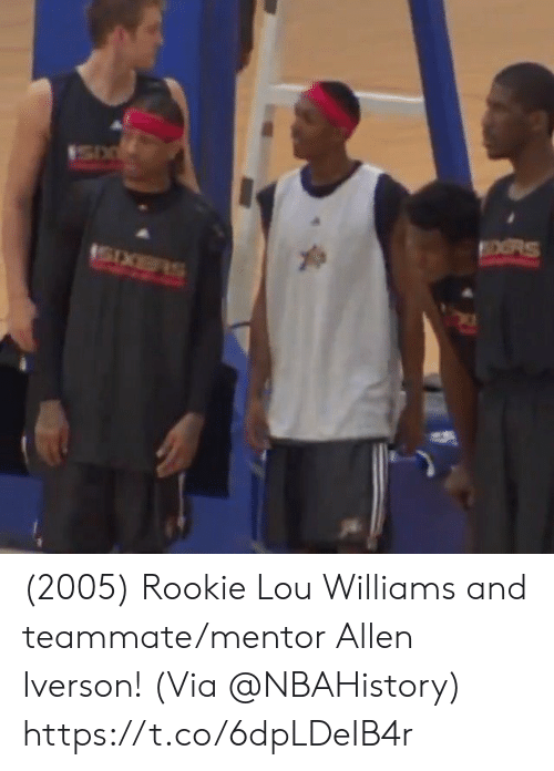 Iverson: OORS (2005) Rookie Lou Williams and teammate/mentor Allen Iverson!   (Via @NBAHistory)   https://t.co/6dpLDeIB4r