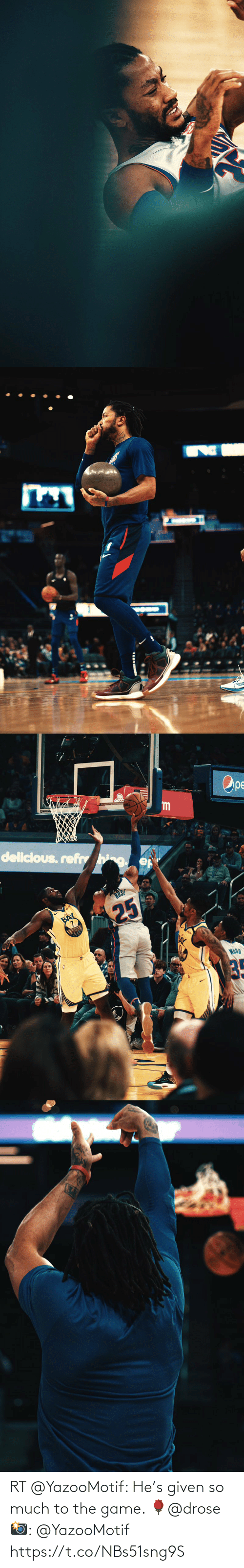 spalding: Ope  SPALDING  'm  delicious. refhg.  RUSE  BAY  WOOD  25 RT @YazooMotif: He's given so much to the game.   🌹@drose   📸: @YazooMotif https://t.co/NBs51sng9S