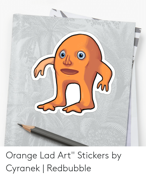 "Orange Lad: Orange Lad Art"" Stickers by Cyranek 
