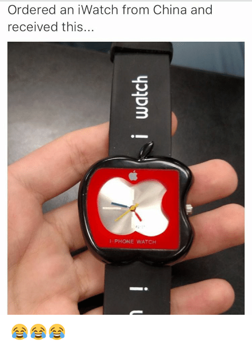 Iwatch: Ordered an iWatch from China and  received this..  I-PHONE WATCH 😂😂😂